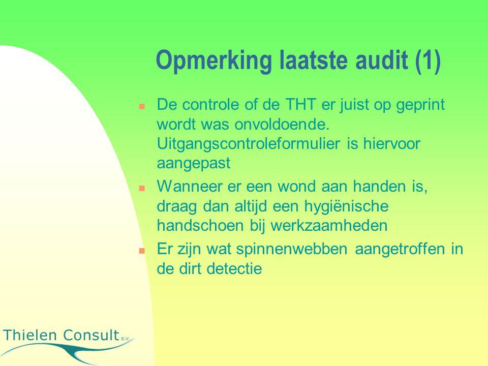 Opmerking laatste audit (1)