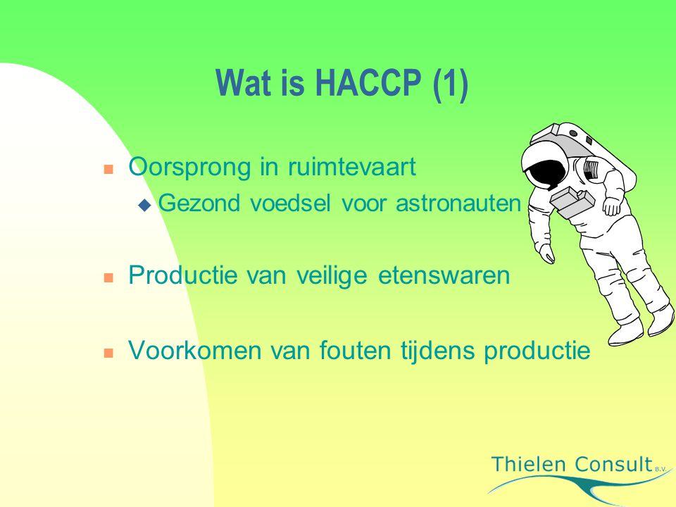 Wat is HACCP (1) Oorsprong in ruimtevaart