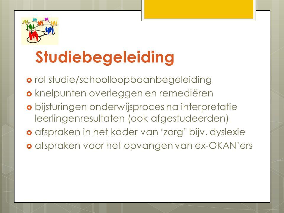 Studiebegeleiding rol studie/schoolloopbaanbegeleiding