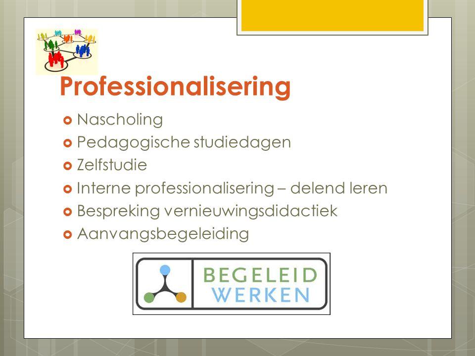Professionalisering Nascholing Pedagogische studiedagen Zelfstudie