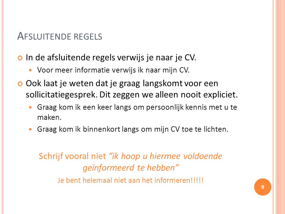 Motivatiebrief Stage Regels en tips.   ppt video online download