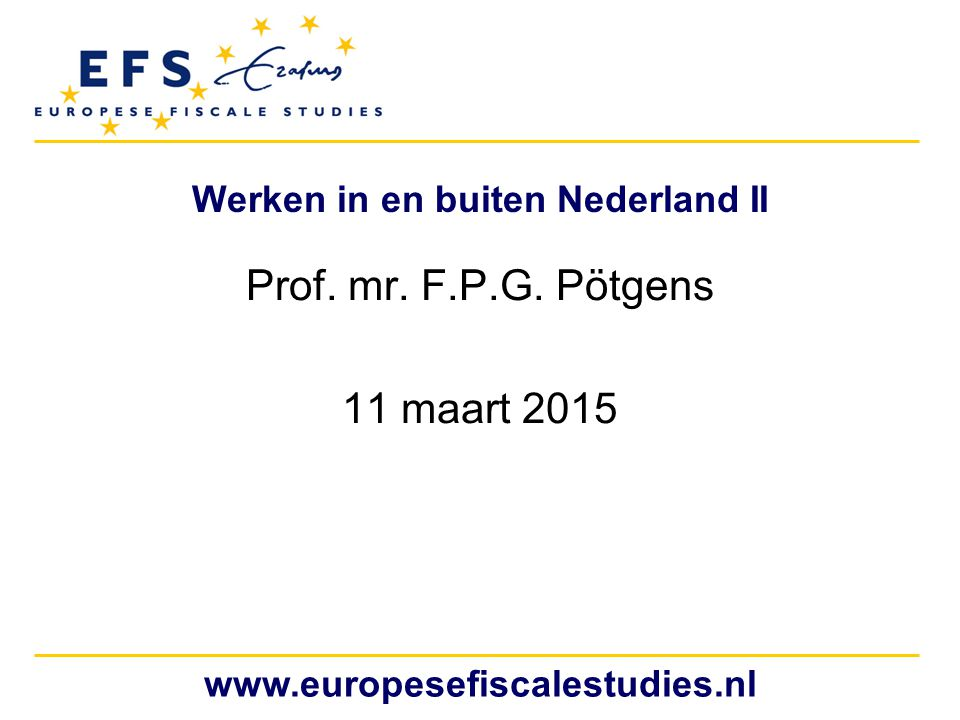 Werken in en buiten Nederland II