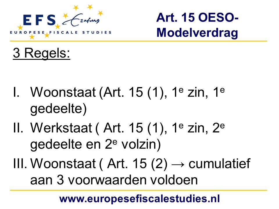 Art. 15 OESO- Modelverdrag