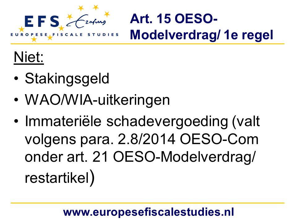 Art. 15 OESO- Modelverdrag/ 1e regel