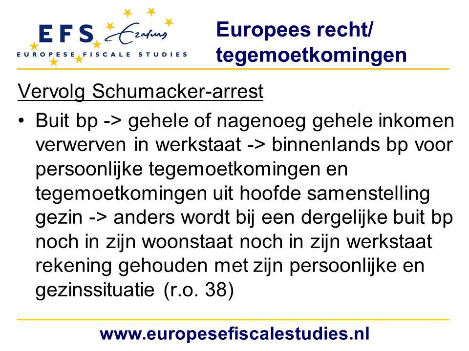 Europees recht/ tegemoetkomingen