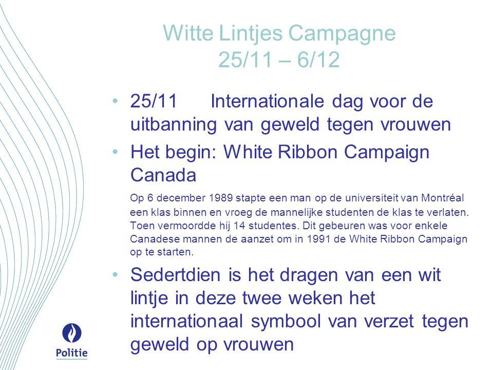 Witte Lintjes Campagne 25/11 – 6/12