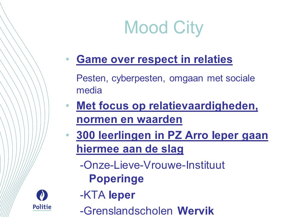 Mood City Pesten, cyberpesten, omgaan met sociale media