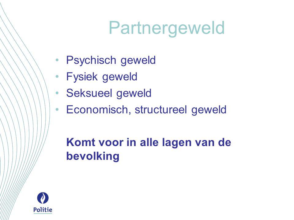 Partnergeweld Psychisch geweld Fysiek geweld Seksueel geweld