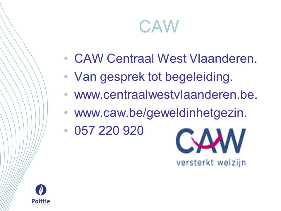 CAW CAW Centraal West Vlaanderen. Van gesprek tot begeleiding.