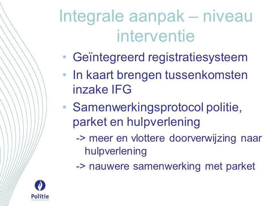 Integrale aanpak – niveau interventie