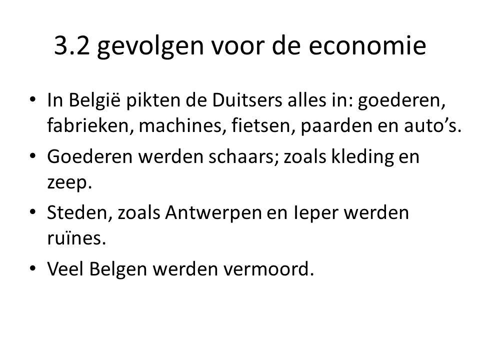 3.2 gevolgen voor de economie