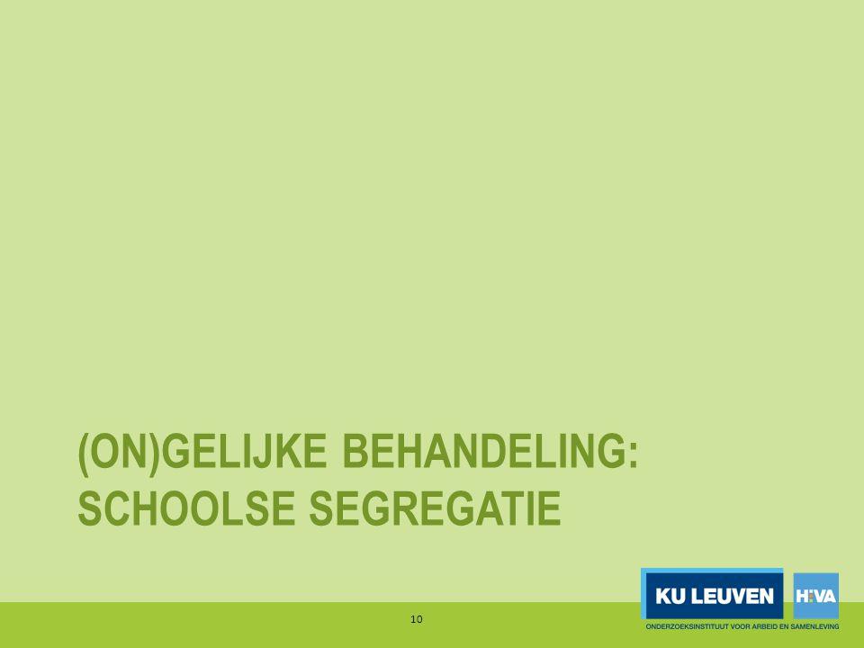 (on)gelijke behandeling: schoolse segregatie