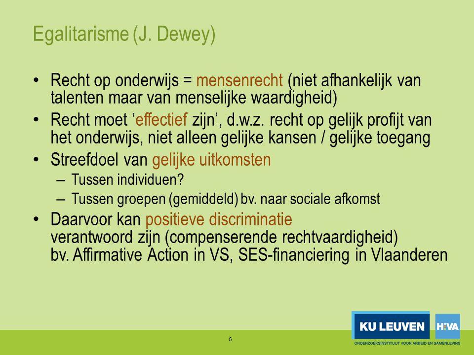 Egalitarisme (J. Dewey)