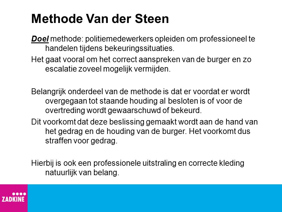 Methode Van der Steen