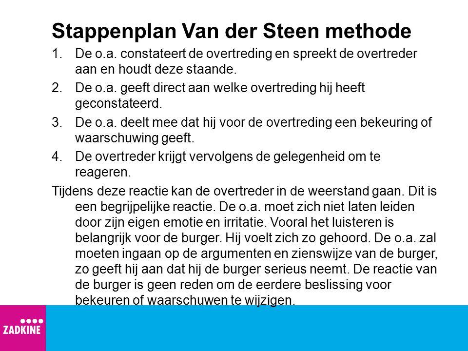 Stappenplan Van der Steen methode