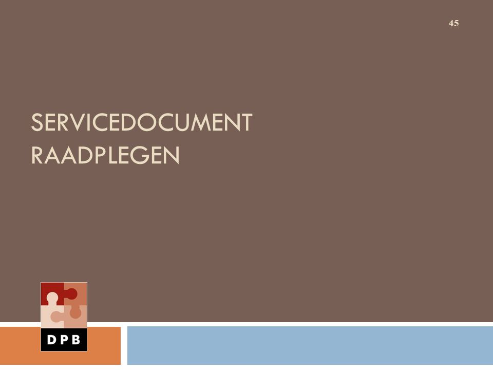 Servicedocument raadplegen