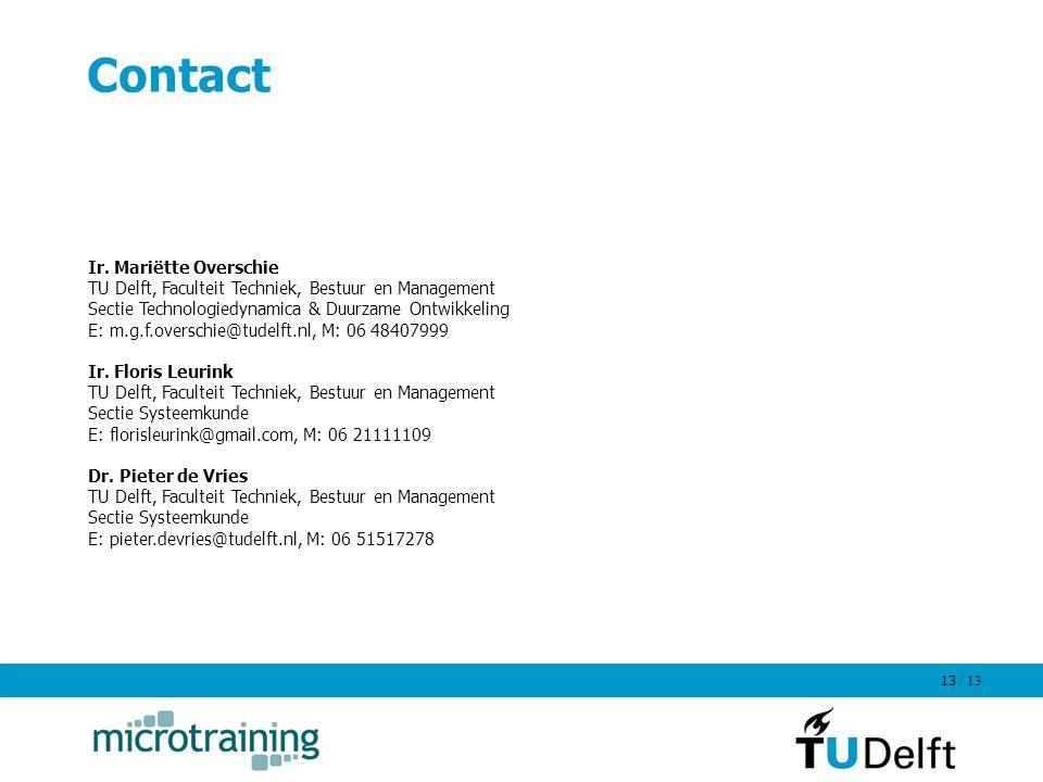 Contact Ir. Mariëtte Overschie