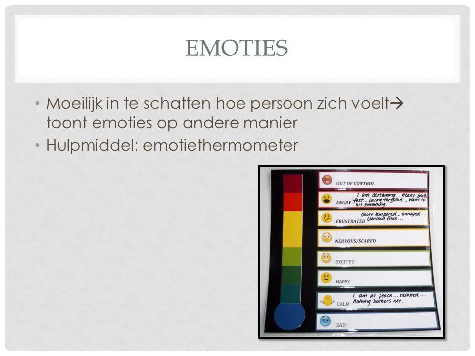 emoties Moeilijk in te schatten hoe persoon zich voelt toont emoties op andere manier.