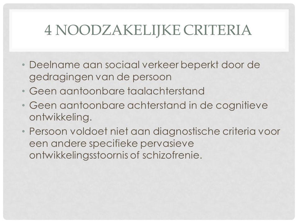 4 noodzakelijke criteria