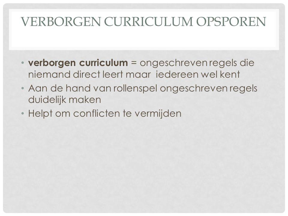 Verborgen curriculum opsporen