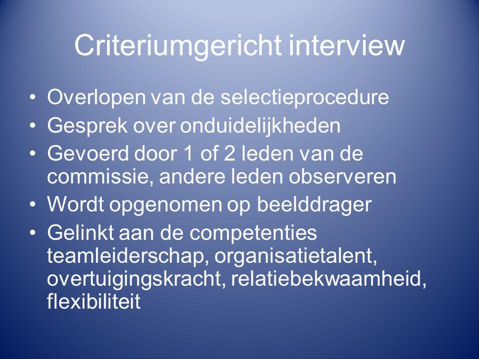 Criteriumgericht interview