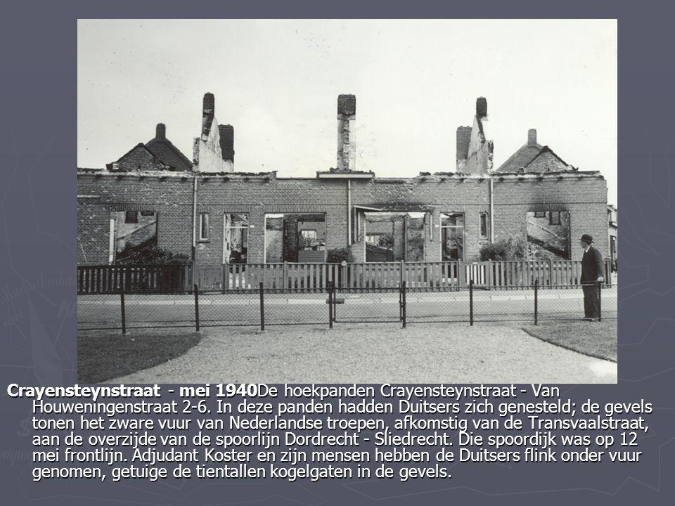 Crayensteynstraat - mei 1940De hoekpanden Crayensteynstraat - Van Houweningenstraat 2-6.