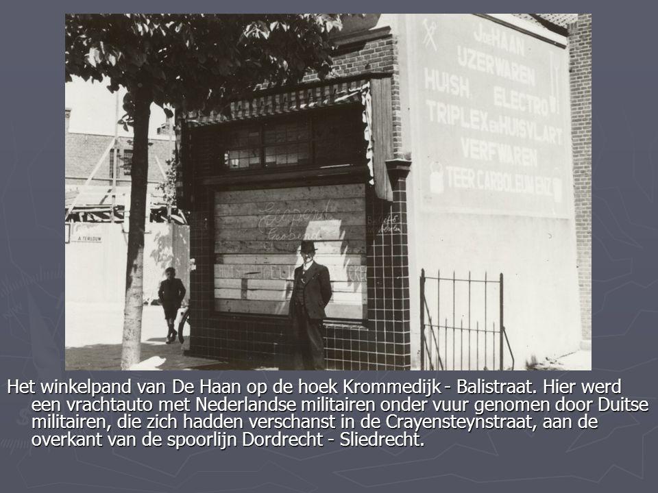Het winkelpand van De Haan op de hoek Krommedijk - Balistraat