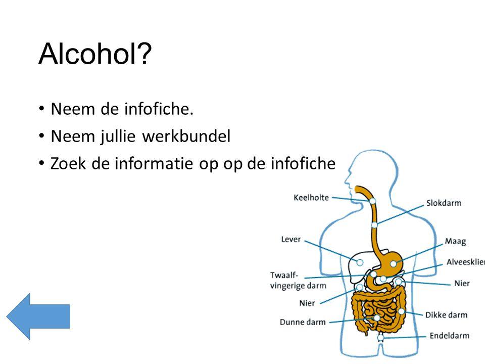 Alcohol Neem de infofiche. Neem jullie werkbundel