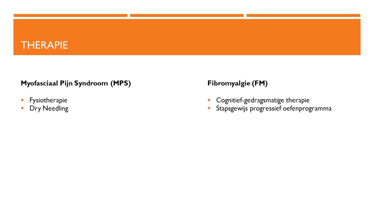 Therapie Myofasciaal Pijn Syndroom (MPS) Fysiotherapie Dry Needling