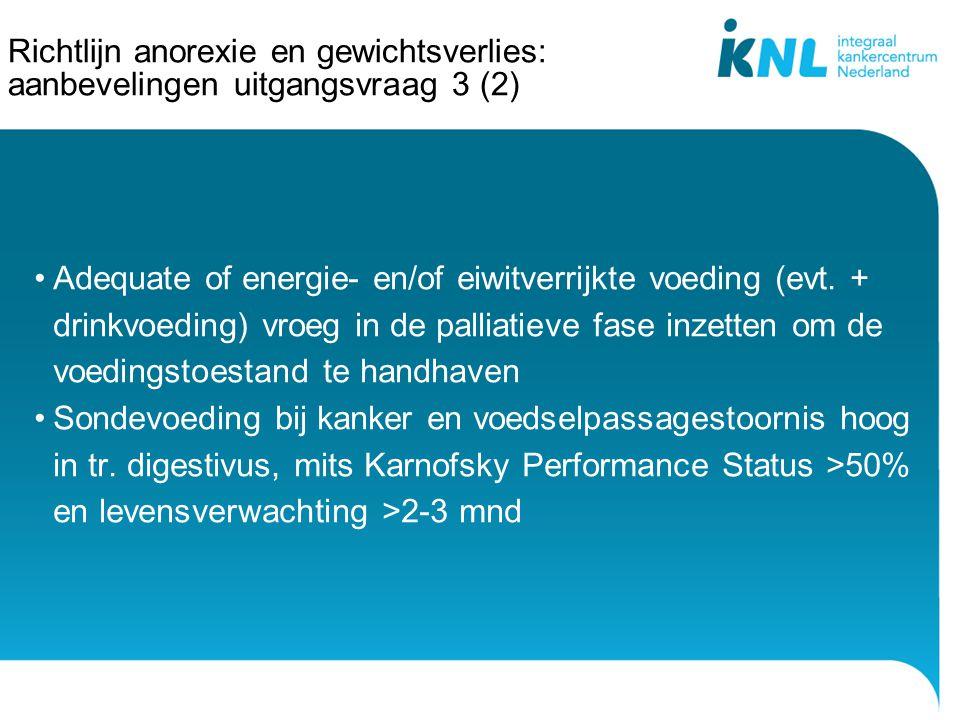 Richtlijn anorexie en gewichtsverlies: aanbevelingen uitgangsvraag 3 (2)