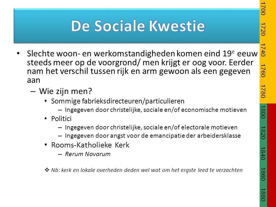 1700 1720. 1740. 1760. 1780. 1800. 1820. 1840. 1860. 1880. De Sociale Kwestie.