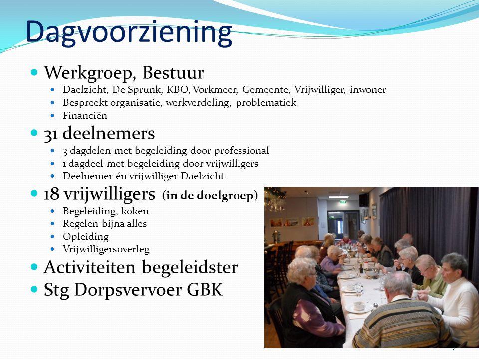 Dagvoorziening Werkgroep, Bestuur 31 deelnemers