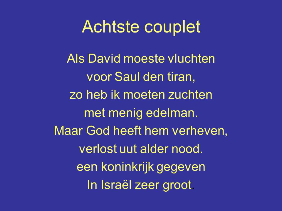 Achtste couplet