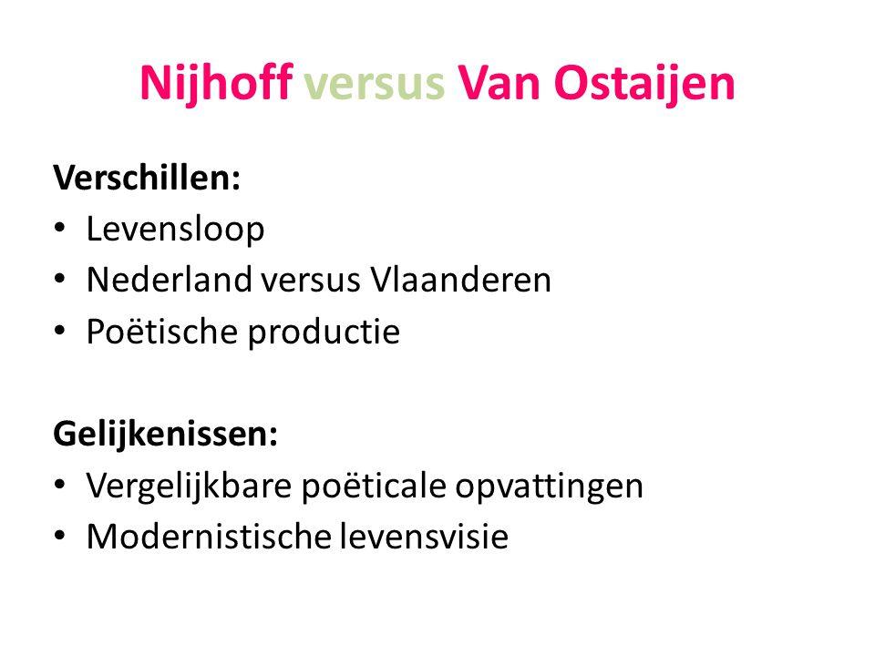 Nijhoff versus Van Ostaijen