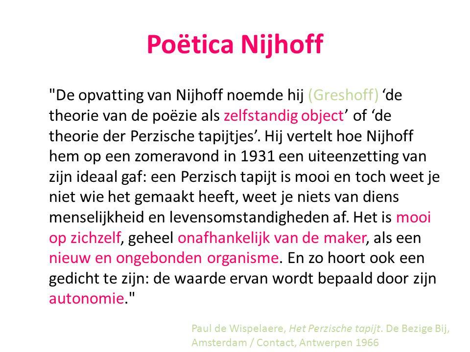 Poëtica Nijhoff