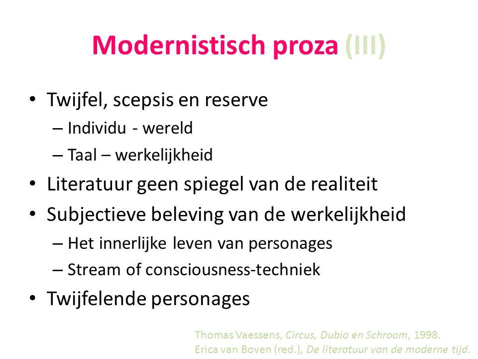 Modernistisch proza (III)