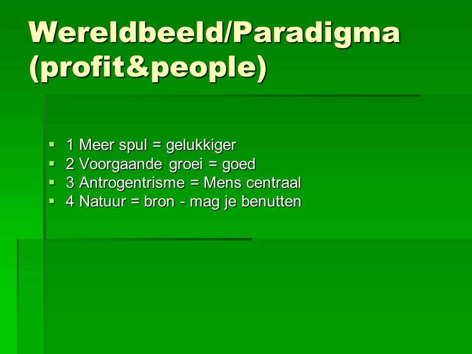 Wereldbeeld/Paradigma (profit&people)
