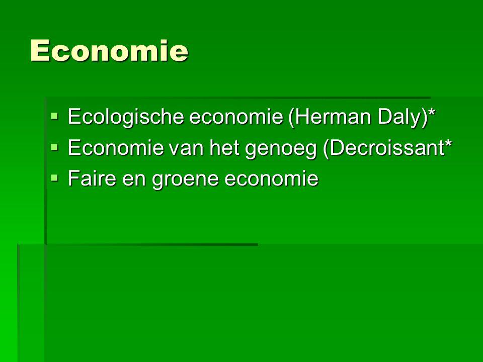 Economie Ecologische economie (Herman Daly)*