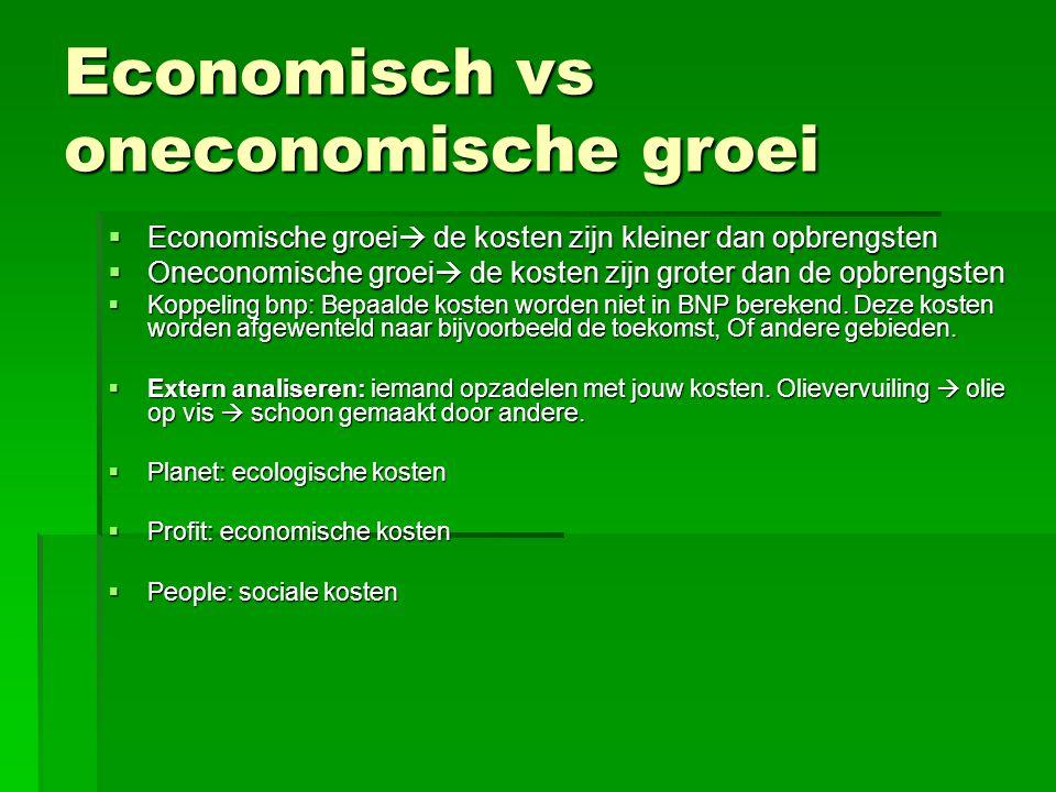 Economisch vs oneconomische groei