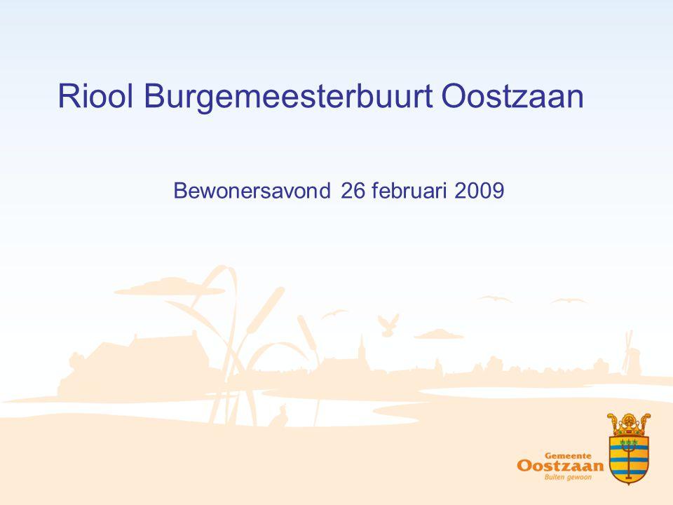 Riool Burgemeesterbuurt Oostzaan
