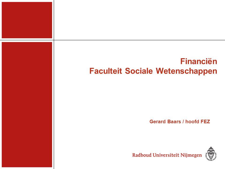 Financiën Faculteit Sociale Wetenschappen