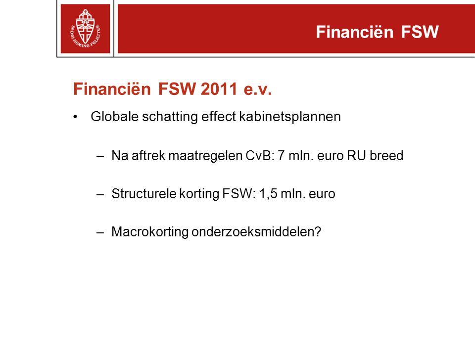 Financiën FSW Financiën FSW 2011 e.v.