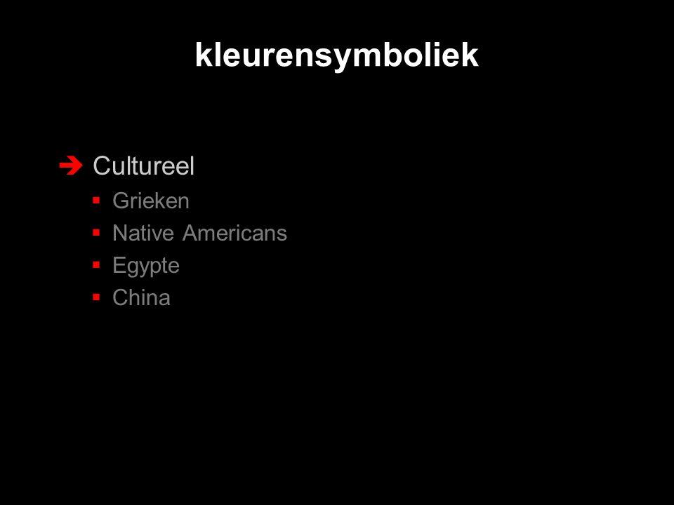 kleurensymboliek Cultureel Grieken Native Americans Egypte China