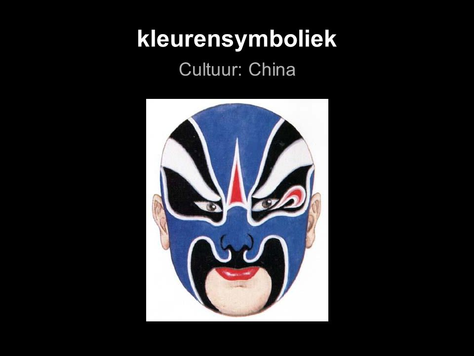 kleurensymboliek Cultuur: China