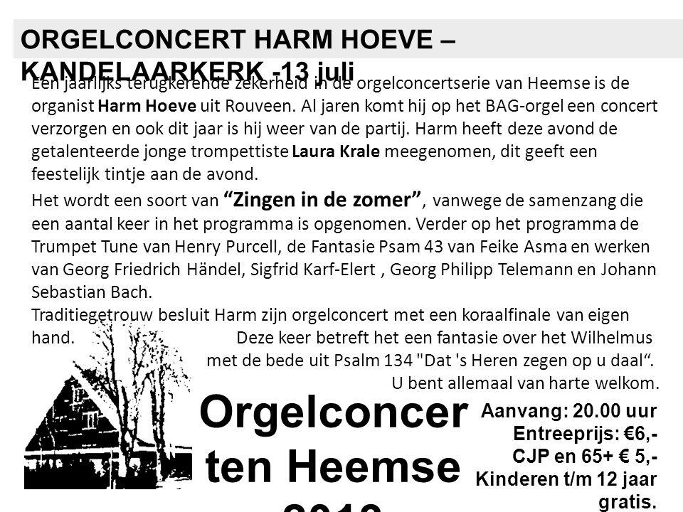 Orgelconcerten Heemse 2013