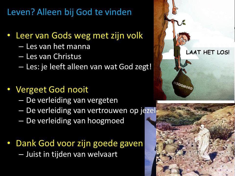 Leven Alleen bij God te vinden Leer van Gods weg met zijn volk