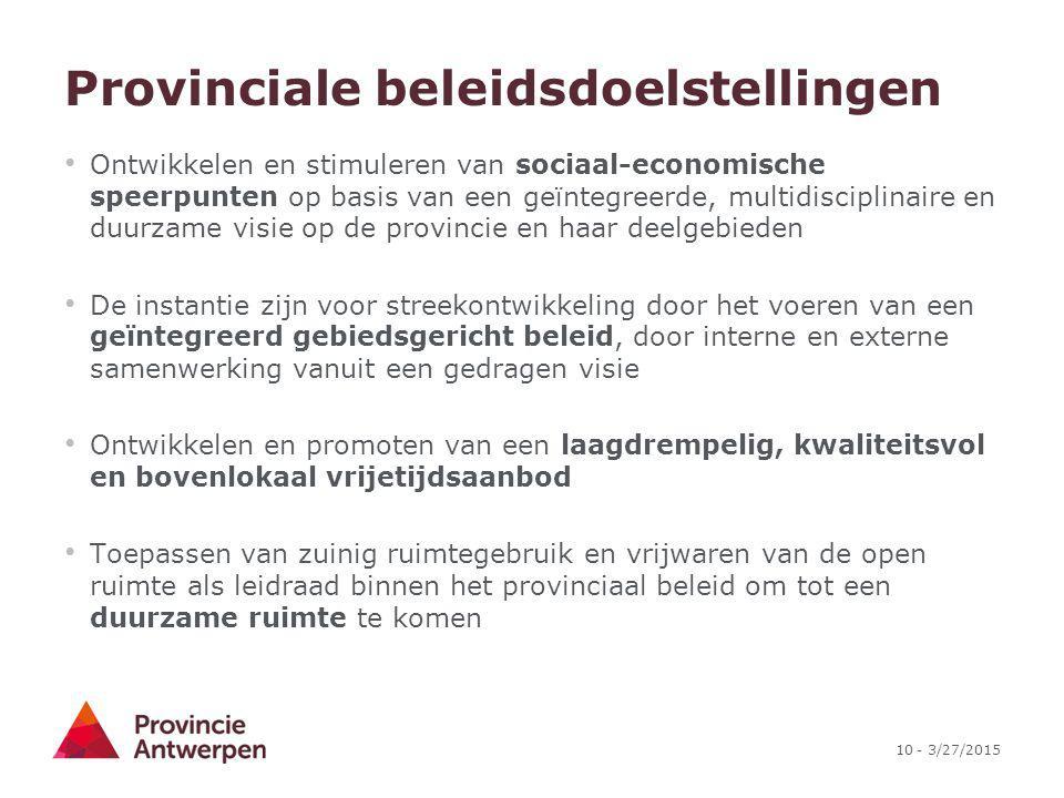 Provinciale beleidsdoelstellingen