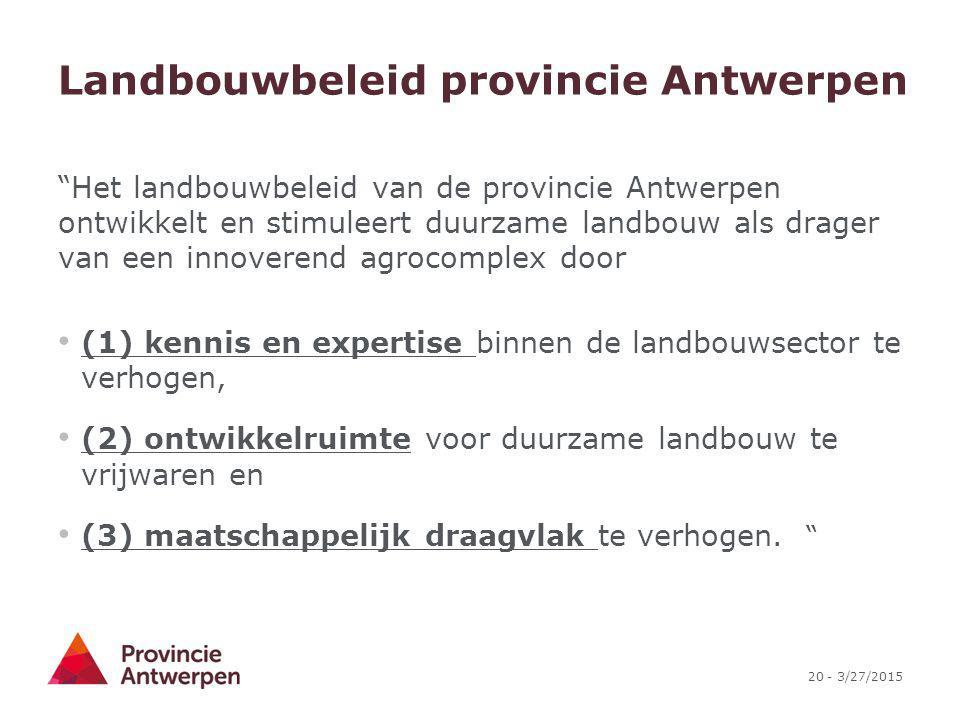 Landbouwbeleid provincie Antwerpen