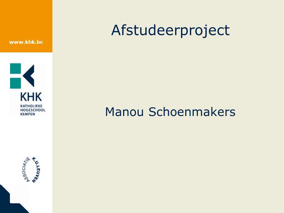 Afstudeerproject Manou Schoenmakers