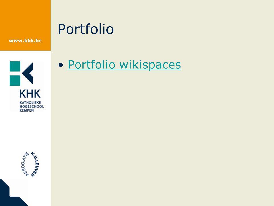 Portfolio Portfolio wikispaces